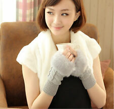 Winter Gloves Soft Fashion Mittens Warmer Lovely Lady Cute Knitted Fingerless 02