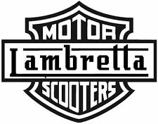 MOTOR LAMBRETTA SCOOTER  DECAL / STICKER,