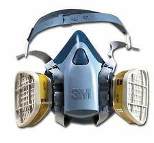 3M HALF MASK - 7500 RESPIRATOR MASK & FILTERS - AEROSOL + DUST MASK - SIZE LARGE