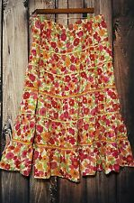 Coldwater Creek Floral Flow Skirt Size XXL Plus Pull On Cute Casual Spring