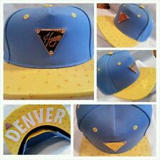 Hater Snapback Jordan Nike Supreme NBA Denver Nuggets Colors Blue Yellow Ostrich