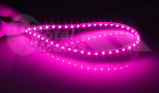 "2x 45cm 17"" Pink / Purple 3528 45 LED SMD Flexible Car Strip Light Neon AC584"