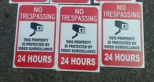 VIDEO SURVEILLANCE Security Decal  Warning Sticker (24hrs 2.25x3.33)set of 3 pcs
