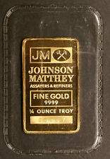 *SUPER RARE* 1/4 Oz. Johnson Matthey (JM) .9999 Fine Gold Bullion Bar - Sealed!