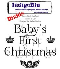 IndigoBlu - Baby's First Christmas - Dinkie Rubber Stamp