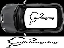 NURBURGRING TETTO DECALCOMANIA MINI CLUBMAN UNO COUNTRYMAN ADESIVI GRAFICHE
