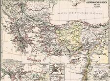 Alte Landkarte OSTRÖMISCHES REICH Ostrom S.P.Q.R. 1096 nChr Nicaea Selguken 1876