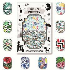 5 Sheets BORN PRETTY Nail Art Water Decals Manicure Transfer Sticker BPY31-35