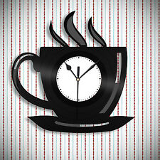 Coffee Sign - Kitchen Clock, Coffee Mug Sign Design, Kitchen Decor Idea