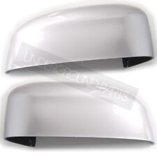 FOCUS LEFT & RIGHT PAIR OF MOONDUST SILVER PAINTED DOOR WING MIRROR COVERS CAPS