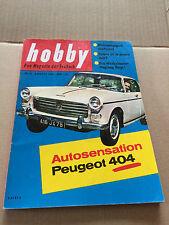 HOBBY Nr. 8 - AUG 1960 - PEUGEOT 404 - WANKELMOTOR-FLUGZEUG - WELTRAUMGIGANT