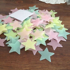 C8 US 100pc Wall Glow In The Dark Star Stickers For Baby Living Room Wall Sticke