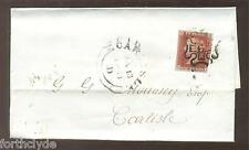 QV 1d RED COVER OBLITERATED BY MALTESE CROSS WITH 6  IN CENTRE  115