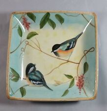 CRACKER BARREL NATURE WALK BY SUSAN WINGET CANDY DISH WITH BIRDS ROBINS BLUE