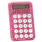 RHINESTONE CRYSTAL DIAMANTE BLING GLITTER SPARKLE DIAMONTE PINK CALCULATOR