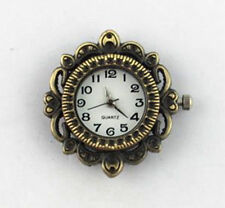 6PCS Antiqued Bronze Ornate ROUND Watch Face 29mm #20952