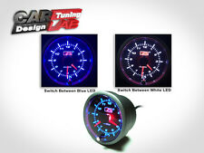 52mm Car Auto Gauge Meter BLUE/WHITE LED CLOCK TIME 12V