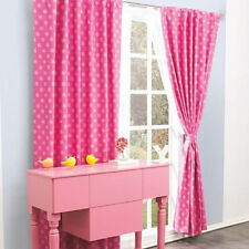 New Teens Girls Pink Polka Dots Curtains Drapes