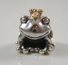 Genuine Authentic Pandora Silver 14k Gold Frog Prince Charm Bead 791118