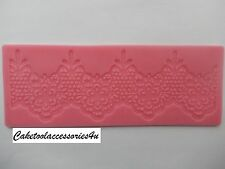 Flower Border Silicone Lace  Fondant Mould Cake Decoration Sugarpaste Icing Clay