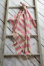 Large Hammam Bath Towel Turkish Peshtemal Sarong Beach Spa Gym Cotton Pink