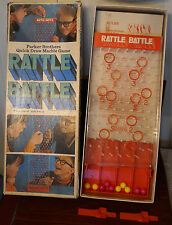 Vintage 1970 Parker Bros. Rattle Battle Marble Race Game Complete in Box