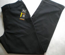 NWT $80 Men's UNDER ARMOUR All Season Gear GOLF PANTS Black UPF 30 38x34 Loose