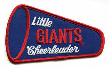"1980'S LITTLE NEW YORK GIANTS CHEERLEADER NFL FOOTBALL VINTAGE 4.75"" PATCH"