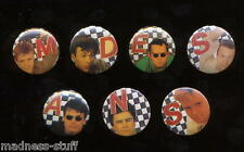 MADNESS - 7x LETTERED BADGES FROM 1982 - SET 'B' - SUGGS SKA STIFF TWO 2 TONE