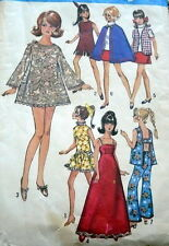 "GREAT VTG 1960s 11 1/2"" BARBIE DOLL CLOTHING SEWING PATTERN"