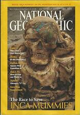 NATIONAL GEOGRAPHIC May 2002 ~ Inca Mummies / Food - Altered?