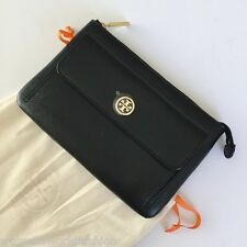 Tory Burch Black Saffiano Leather Robinson Clutch Hand Purse Wallet NWT 48159255