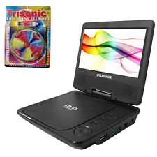 "Sylvania 7"" Swivel Screen Portable DVD Player w/ Lens Cleaner for DVD Players"