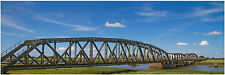 "HO Scenery Background Railroad Bridge 12"" high x 36"" wide poly poster media"