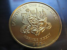 wizard of oz dorothy toto land of oz 1974 Mardi Gras Doubloon Coin