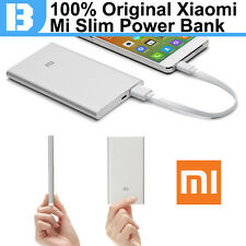 100% Original Xiaomi Power Bank 5000mAh Slim 9.9mm External Battery Pack Charger