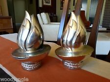 2 Vintage SPREAD THE LIGHT WITH WORLD BOOK ( ENCYCLOPEDIA ) TORCH PAPERWEIGHT S