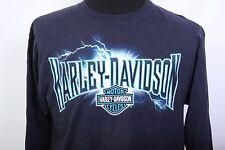 Harley Davidson Motorcycles Greensburg PA eagle navy long sleeve shirt Large