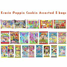Assorted 5 bags Kracie Poppin' Cookin' DIY Gummy Candy Making Kit random in BOX
