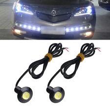 1 Pair Ultra Thin 23mm 12V Car LED DRL Daytime Running Light Eagle Eye Lamp