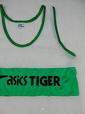 Vintage 80 ASICS Tiger Maglietta Canotta Medium Singlet VTG Shirt NOS Top Tank
