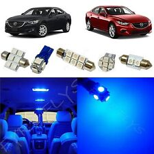 8x Blue LED lights interior package kit for 2014 & Up Mazda Mazda6 MS3B