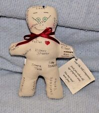 """Stuffed Over the Hill Companion Cloth Doll Old Age Ailments On Body 8"""" Long"""