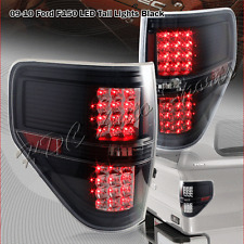 For Ford F150 XLT STX FX4 Pickup LED Black Housing Clear Lens Rear Tail Lights