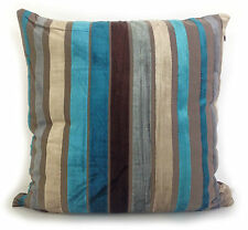 LARGE VELOUR STRIPE CUSHIONS CUSHION COVERS SCATTER CUSHION TEAL BLUE LIME GREEN