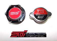 SUBARU RACING CNC BILLET OIL FILLER CAP & 1.3KG RADIATOR CAP KIT