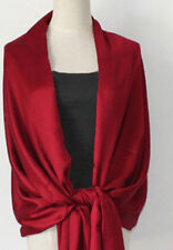 Supper Soft SILKY 100% PASHMINA/CASHMERE SCARF/WRAP/SHAWL/STOLE Dark Red Color