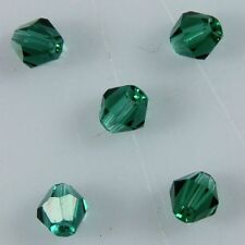 100pcs Swarovski 4mm Bicone Crystal beads E Peacock-green