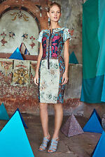 Anthropologie Pieced Brocade Dress Size 00, Slim Sheath By Beguile By Byron Lars