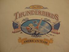 Thunderbirds America's Team 1953 Jets USA White T Shirt Youth L Adult S